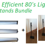 Ultra Efficient 80 Watt Lights & Stands Bundle