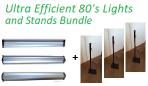 Ultra Efficient 80 Watt Lights & Stands Bundle